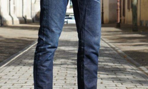 DAO jeans selvedge 14.oz chevron 3/4 avant