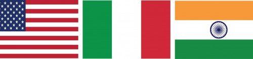 Japon, Etats-Unis, Italie, Inde et Chine