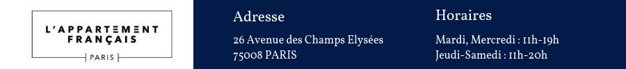 Horaires ouverture lappartement francais Paris
